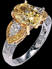 Yellow Diamond Ring R-01-04